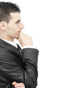 Businessman entrepreneur thinking