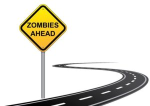 zombies road sign branding