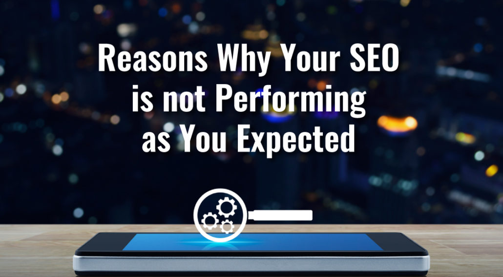 Reasons Why Your SEO is Not Performing as You Expected